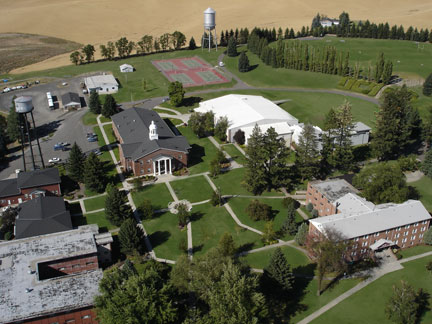 Upper Columbia Academy from the air.
